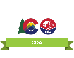 The Colorado Flag logo And CDA logo